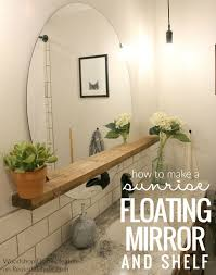 Pinterest Bathroom Mirrors Large Bathroom Mirror With Shelf Excellent Design Ideas Home Ideas