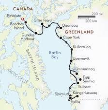 Greenland Map Northwest Passage Itinerary U0026 Map Wilderness Travel