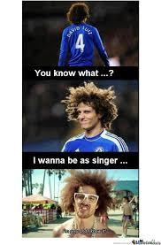 David Luiz Meme - david luiz footballer by day singer by night by sniper90 meme