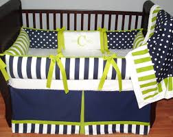 bedding set interesting navy blue and gray nursery bedding