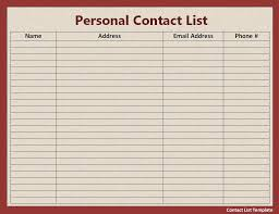 Word Grocery List Template Amazing Word Contact List Template Contemporary Office Worker