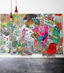 Large Wall Murals Wallpaper by Tokyo 8bit Wall Art Large Wallpaper Mural Milton U0026 King