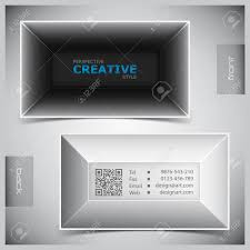 abstract creative business cards set template royalty free