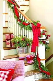 stair rail garland beautiful banisters banister decorated