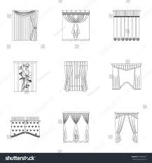 cornice curtains cornice print other web icon stock vector 726530281