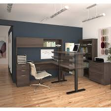 Height Adjustable Desk Canada by Digital Height Adjustable L Shape Desk With Hutch Lateral File