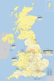 Map Of Britain Large Detailed Administrative And Political Map Of Great Britain