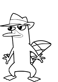 printable perry the platypus coloring pages coloring me