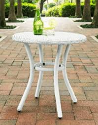 4 round patio side tables in amazing styles and colors outdoor