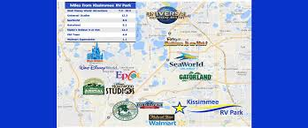 map of kissimmee location map of orlando kissimmee rv park in florida