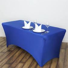 6ft Table Cloth by 6 Ft Royal Blue Rectangular Spandex Tablecloth For Wedding Party