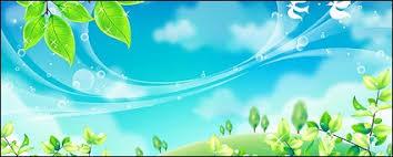 wallpaper biru hijau daun hijau dan langit biru vektor lanskap vektor gratis download gratis