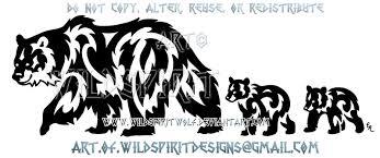 and cubs tribal design by wildspiritwolf on deviantart