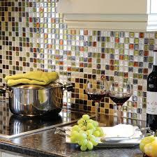 decor smart tiles groutless backsplash with home depot kitchen