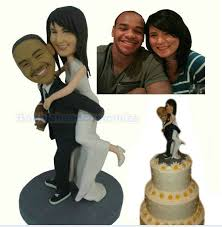 cake toppers bobblehead personalized bobblehead wedding cake toppers wedding