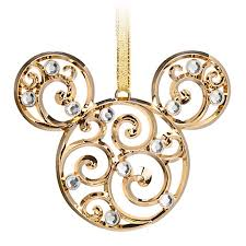 ornament bohemian filigree mickey mouse gold
