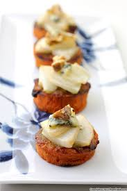 pear blue cheese yam appetizers thanksgiving recipe pham fatale