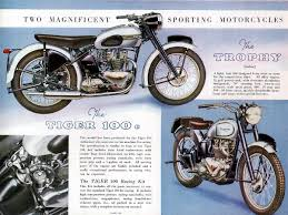 jim alves u0027 1954 isdt triumph 650 twin speed track tales