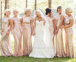 gold bridesmaid dresses hot sale sparkly sequin mermaid gold chagne gold