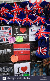 themed gifts uk london tourist souvenir stall with union flag themed gifts