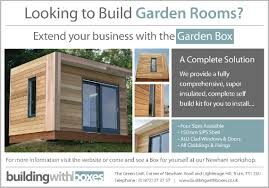 looking to build a garden room or extend your business sips