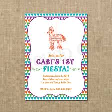 baby 1st fiesta birthday invitation burro piñata digital