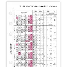 Kalendář 2018 Svátky Defenes český Plánovací Kalendář 2018 A6 Bílý Papír 1 List Defenes