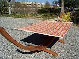 amazon com petra leisure 14 ft teak wooden arc hammock stand