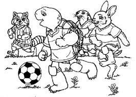 franklin playing football coloring animal pages