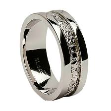 soulmate wedding ring white gold wedding ring claddagh corrib wide sides