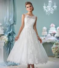 plus size wedding dresses with sleeves tea length lace boat neck plus size sleeve wedding dresses ebay