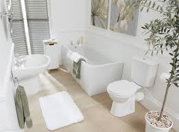 shabby chic bathroom decorating ideas teenage bathroom design rectangle shape built in bathtub four