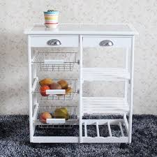 kitchen storage cabinet cart ktaxon wood kitchen storage rolling cart dining trolley storage cabinet w drawers white