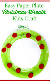 paper plate wreath christmas craft for kids