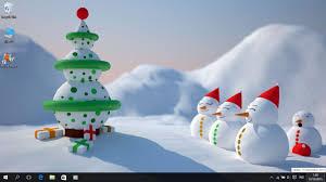 christmas theme for windows 7 8 8 1 and 10 save themes