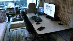 mobile office desk rv remodel building a workstation for my mobile office youtube