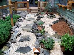 cool backyard in japanese garden design with small patio also pond
