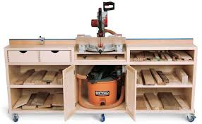 diy table saw stand with wheels chopsaw table cabinet make top the same height as table saw wood