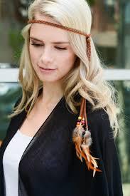 bohemian headbands bohemian feather headband necklace