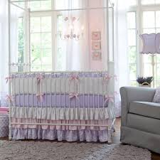 Mini Crib Baby Bedding by Bedroom Purple Dots Crib Baby Bedding Set With Matching Baby Room