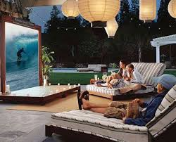 outdoor backyard theater guide projector