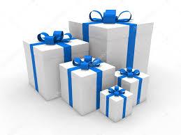 3d blue gift box christmas u2014 stock photo dariusl 6540258