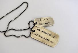 personalized dog tag necklace mens dog tag necklace husband gift gift for him anniversary