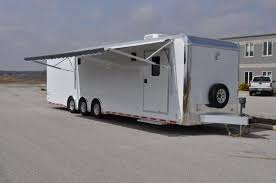 Awnings For Trailers Intech Aluminum Race Trailer For Sale Aluminum Trailers Designed