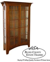 mission style china cabinet bargains on ethan allen american impressions solid cherry mission