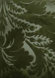 Green Velvet Upholstery Fabric Jean Bart Velvet Damask Embossed Forest Green Velvet Damask