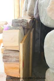 how to make a faux stack of logs pineapple hill interiors