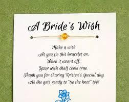 bridal shower wish something blue a s wish wish bracelet bridal