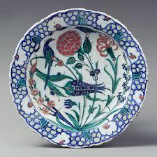 Ottoman Pottery Plate Second Half Of 16th Century Iznik Turkey Fritware