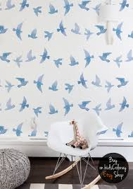 Watercolor Wallpaper For Walls by Flying Birds Wallpaper Watercolor Swallows Wall Mural
